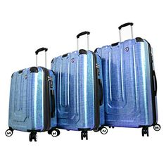 Mia Toro Luggage Macchiolina Polish Hardside Spinner 3 Piece Set Blue One Size -- For more information, visit image link. Suitcase Set, Spinner Suitcase, 3 Piece Luggage Set, Luggage Sets, Luggage Brands, Luggage Store, Best Carry On Luggage, Travel Luggage, Travel Bags