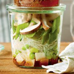 Recette de soupe instantanée tofu et miso Lunch Snacks, Tofu, Pickles, Cucumber, Vegan, Vegetables, Drink, Cream Soups, Essen