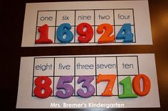 Mrs. Bremer's Kindergarten: number words