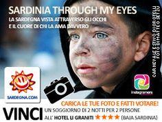 """Sardinia through my eyes #contest  La galleria fotografica della vostra macchina o del vostro smartphone sono stracolmi delle foto fatte quest'estate ma non solo? Avete nel cuore e negli occhi un'immagine che più di tutte rappresenta per voi la Sardegna? Un paesaggio, un tramonto, il dettaglio di un abito tradizionale, un piatto tipico o un momento particolare? Da oggi e fino al 13 settembre, potrete raccontarci la """"vostra"""" Sardegna!"""