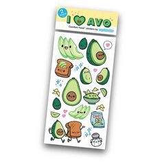Avacado Stickers by Squishables