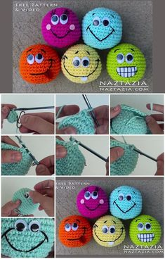 How to Make Beginner Amigurumi Smiley Face Hacky Sack Ball Toy