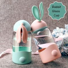 Buy Cute Rabbit Glass Cup Outdoor Sports Travel Water Bottle Leak-proof Portable Trendy Students Water Bottle Promotion at Wish - Shopping Made Fun Travel Water Bottle, Drinking Water Bottle, Cute Water Bottles, Glass Water Bottle, Drink Bottles, School Water Bottles, Eco Friendly Water Bottles, Bottle Bottle, Baby Bottle