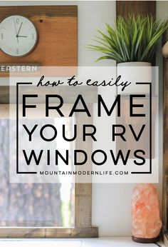 to Frame RV Windows Come see how easy it is to frame RV windows to create a cozier vibe inside your tiny home on wheels! via see how easy it is to frame RV windows to create a cozier vibe inside your tiny home on wheels! Tiny Camper, Rv Campers, Happy Campers, Small Campers, Camper Windows, Rv Homes, Tiny Homes, Diy Rv, Rv Makeover