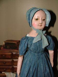Here you will find fine reproductions of English Wooden Queen Anne Dolls, Izannah Walker Dolls and Black Americana Folk Art Dolls
