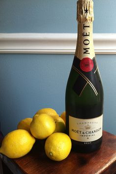 A recipe for champagne lemonade...don't even pretend you're not curious