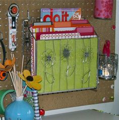 Nice craft space with an awesome pegboard
