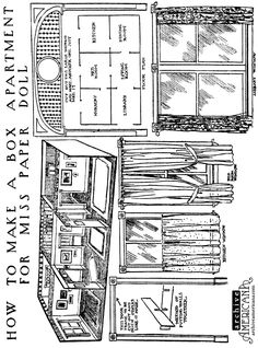 How to make a box apartment for Miss Paper Doll Girls who are fond of paper dolls must be sure to start in today to make the apartment for paper dolls which is described and pictured here, because some very attractive furniture for the apartment is to be published in the page for boys and …