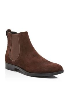 Claremont Suede Chelsea Boots, Dark Brown