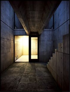 Azuma House (Row House) in Sumiyoshi, Japan | one of the earliest works of the self-taught architect Tadao Ando, 1975-1976
