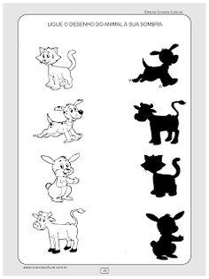 atividades de matematica conceitos sombras Kindergarten Math Activities, Preschool Printables, Kindergarten Worksheets, Worksheets For Kids, Preschool Activities, Farm Animals Preschool, Nursery Rhymes Preschool, Preschool Colors, Early Childhood Education