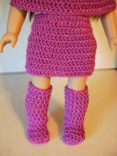 Crochet Go Go Boots for American Girl