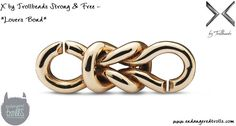 """X by Trollbeads """"Lovers Bond"""" from the Strong & Free release Fall 2014 via Endangered Trolls blog"""