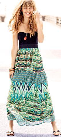 Hot Summer Days tribal beat trends from Wet Seal: 2Fer Chiffon Maxi Dress #WetSealSummer #Contest