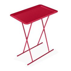This metal tray table is the perfect way to serve afternoon snacks by the pool.   $42