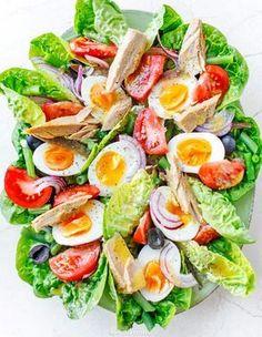 Sałatka nicejska Anti Pasta Salads, Pasta Salad Recipes, Fruit Recipes, Chicken Recipes, Great Dinner Recipes, Healthy Dinner Recipes, Cooking Recipes, Healthy Recepies, Salad Bar