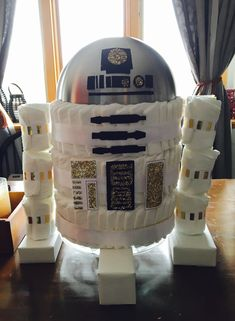 Baby shower - R2D2 diaper cake Star Wars
