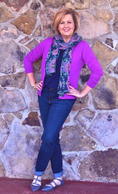 50 Is Not Old | Purple | Spring Outfit | Fashion over 40 for the everyday woman