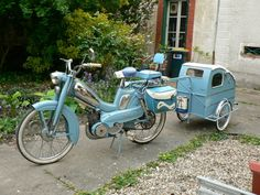 Vintage Motorcycles 155796468338825455 - Image Source by mhamelinmaxime Vintage Moped, Vintage Bicycles, Vintage Motorcycles, Velo Tricycle, Bicycle Sidecar, Hors Route, Bicycle Quotes, Stealth Camping, Motorcycle Trailer