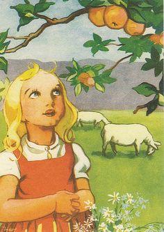 Martta Wendelin | by Lilla67 Girl Face Drawing, Drawing S, Childrens Christmas, Christmas Art, Baby Lamb, Art For Art Sake, Children's Book Illustration, Stone Art, Finland