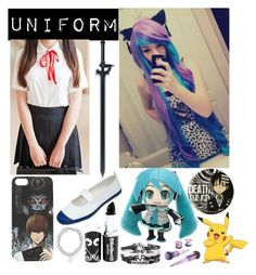 """Scene Hair #45"" by taylor-kennedy-i ❤ liked on Polyvore featuring GOGO Girl, Kirito and York Wallcoverings"