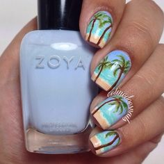 Would probably only do this design on the accent nail and maybe just a blue on the rest.. But love it #nail #nails #nailart