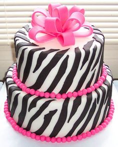 Zebra cake decorations