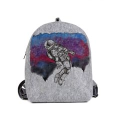 Handpainted - Backpack Astronaut, Fashion Backpack, Hand Painted, Backpacks, Bags, Design, Handbags, Dime Bags
