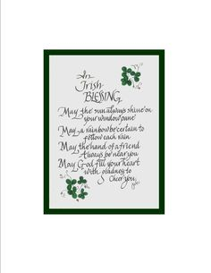Hand Scribed Irish Blessing with Green by CalligraphicArtisan, $10.00