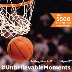 "What is the recipe for ""unbelievable moments""? This March, it's exciting games, good friends and great snacks! Join us to find out what needs to be on your list as you get ready for the big games! We'll be giving away fantastic prizes to help get you on your way! Join us for the #UnbelieveableMoments Twitter Party and live sweepstakes on Fri, Mar 27 at 1pm EST.   RSVP/find rules here: http://www.sofabchats.com/parties/432-twitter-party AD"