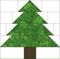 Christmas tree ten inch block