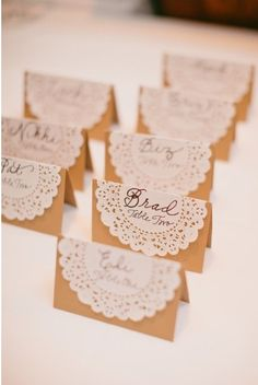 If I had better handwriting, this would be perfect, possibly different colored lace depending on food selection?