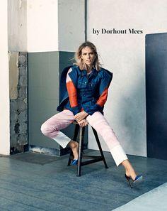 Een one-of-a-kind denim jacket van Dorhout Mees. Met Marie Claire zetten deze designers zich in voor Plan Nederland.