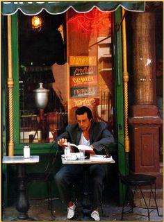 #CafeSociety - Al Pacino at Caffe Reggio - 1989 Caffe Reggio - 119 MacDougal Street - #NewYork, NY 10012 - Tel. (212) 475-9557