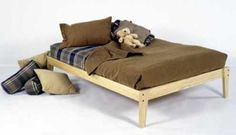 Full Size - Solid Wood Platform Bed Frame - Clean, Unfinished, Chemical Free Pine - Made in USA Room Doctor Platform Beds http://www.amazon.com/dp/B00081NKKI/ref=cm_sw_r_pi_dp_YaFRtb0E9P0M2K9E