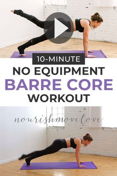 Running For Weight Loss Plan Discover Barre Workout Get fit at home with this bodyweight workout! This barre workout focuses on toning your abs and butt -- aka an entire core workout in just 10 minutes! At Home Workout Plan, At Home Workouts, Barre Workouts, Pilates Workout Videos, Butt Workouts, Barre At Home Workout, Dancer Leg Workouts, Dorm Room Workout, Dancer Stretches