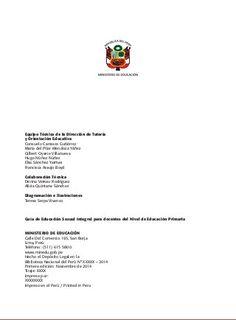 Guía educación-sexual integral nivel primaria (documento del MINEDU s…