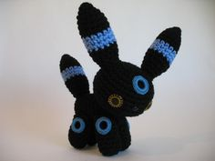 Pokemon Umbreon amigurimi crochet plush  Wolfdreamer has a version too
