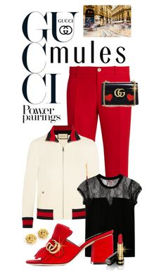 """""""Slip 'Em On: Mules"""" by shortyluv718 ❤ liked on Polyvore featuring Gucci, Chanel and mules"""