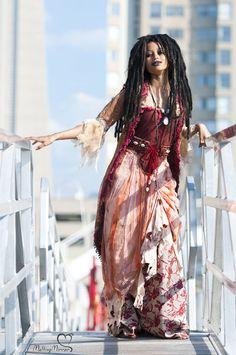 Tia Dalma Costume de Piratas do Caribetutorial