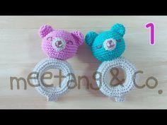 赤ちゃんのおもちゃ ガラガラの編み方1/3 How to crochet a baby toy - YouTube