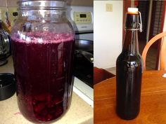 Berry Soda (fermented using ginger bug/soda culture)