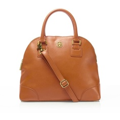 Tory Burch Robinson Small Dome Satchel ($495) ❤ liked on Polyvore