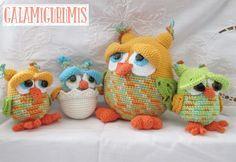 La Familia Búho Crece: Patrón buhitos Owl Patterns, Amigurumi Patterns, Amigurumi Doll, Crochet Patterns, Crochet Birds, Crochet Animals, Crochet Baby, Knit Crochet, Owl Hat
