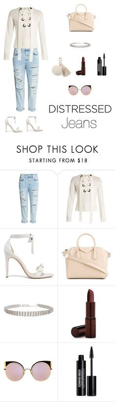 """""""#distressjeans"""" by style4ever2 ❤ liked on Polyvore featuring Joseph, Alexandre Birman, Givenchy, Fashion Fair, Fendi, Edward Bess and Juicy Couture"""