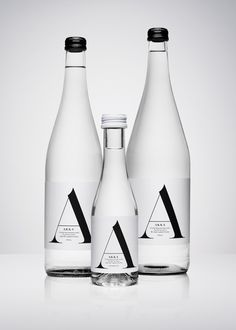 Akka water packaging design by Stockholm Design Lab.