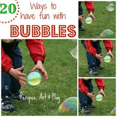 homemade bubble recipes and ideas to have fun!