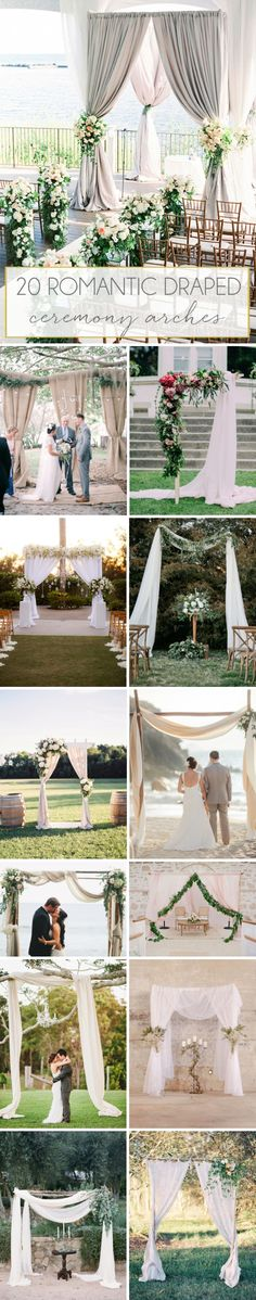 20 Draped Ceremony Arches   SouthBound Bride   http://southboundbride.com/20-romantic-draped-ceremony-arches