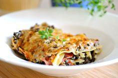 Lasagne med linser, bacon og blomkålsbechamelsauce | JulieKarla