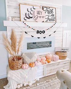 Pink Halloween, Halloween Home Decor, Diy Halloween Decorations, Fall Home Decor, Holidays Halloween, Halloween Crafts, Halloween Party, Halloween Costumes, Bebe Shower